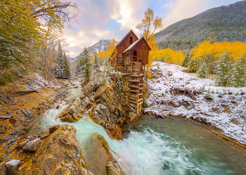 """Crystal Mill Fall Sunrise"" Crystal, Colorado"