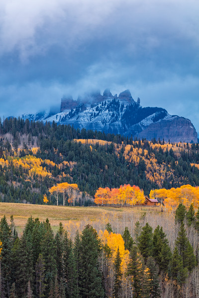 """ First Snow on the Castles "" gunnison colorado"