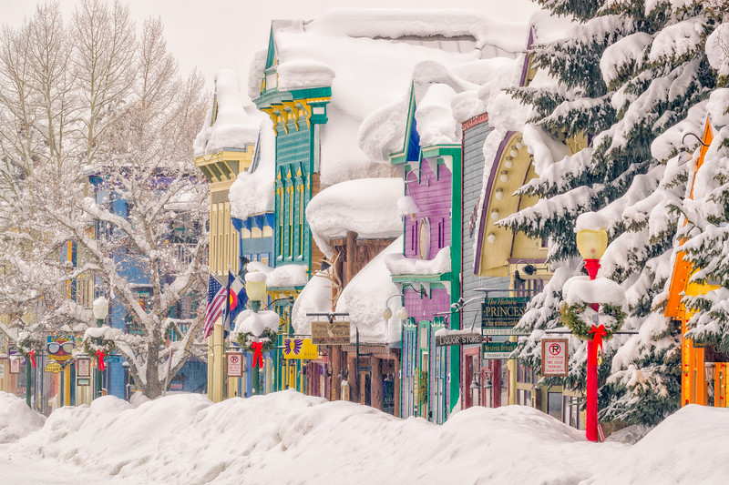 """Crested Butte Winter"" Crested Butte, Colorado"
