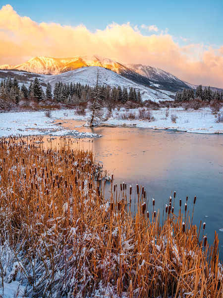 """Winter Morning"" Crested Butte South, Colorado"