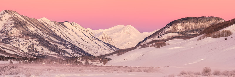 """Pink morning"", Crested Butte, Colorado"