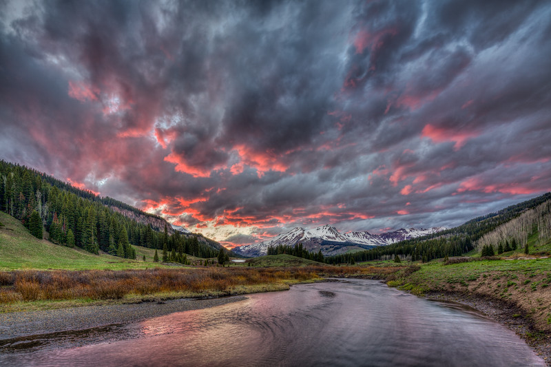 """East River Sunset"" Gothic, Colorado"