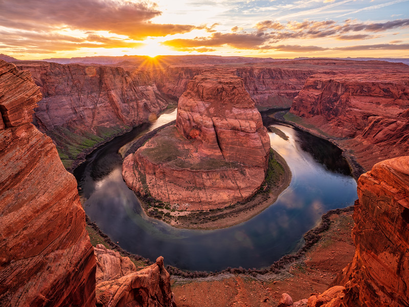 """Sunrise on the bend"", Arizona"