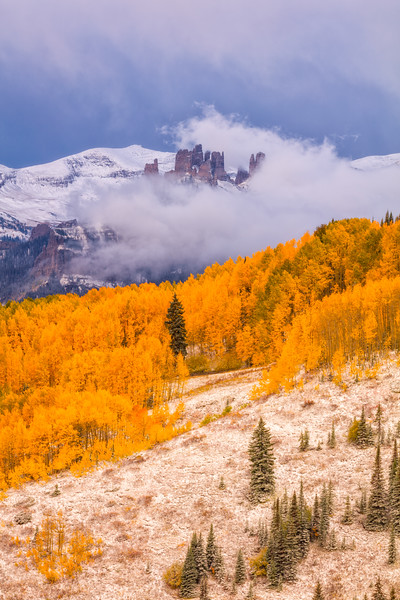 """Clearing Snow Storm & Fall Colors"" West Elk Wilderness, Colorado"