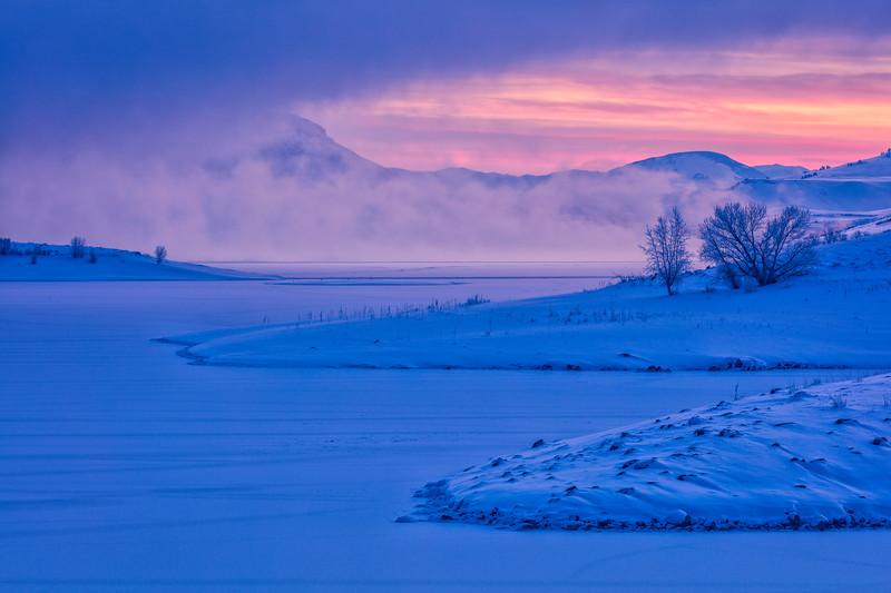 """Blue Mesa Sunrise"" Gunnison, Colorado"