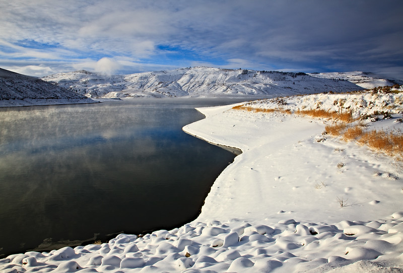 """Clearing Winter Storm"" Blue Mesa Lake, Colorado"