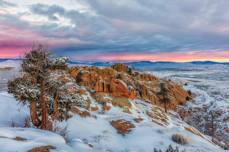 """Sunrise over Gunnison from Hartman Rocks"" Gunnison, Colorado"