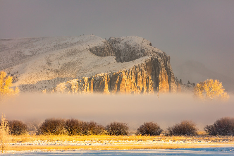 """The Palisades in the Mist"" Gunnison, Colorado"