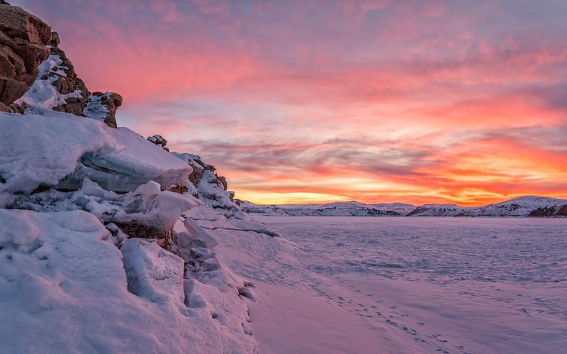 """Fire & Ice"" Blue Mesa Lake, Gunnison, Colorado"