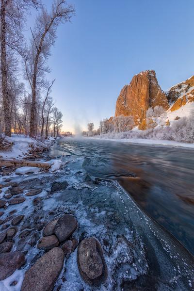 """Gunnison River & the Palisades"" Gunnison, Colorado"
