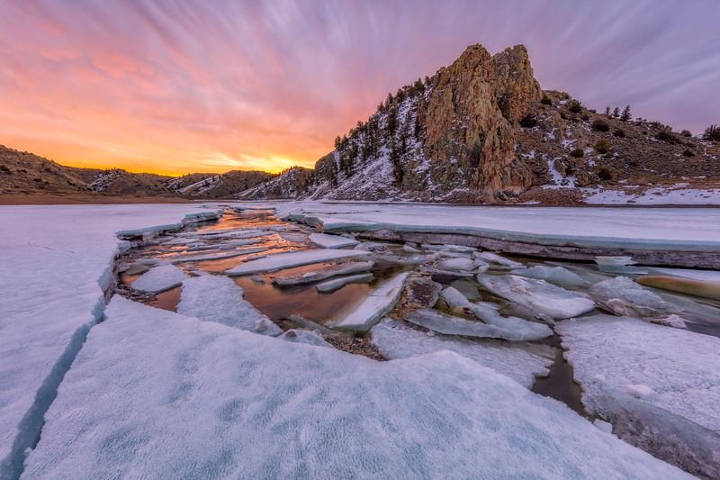 """Ice Jam"" Gunnison, Colorado"