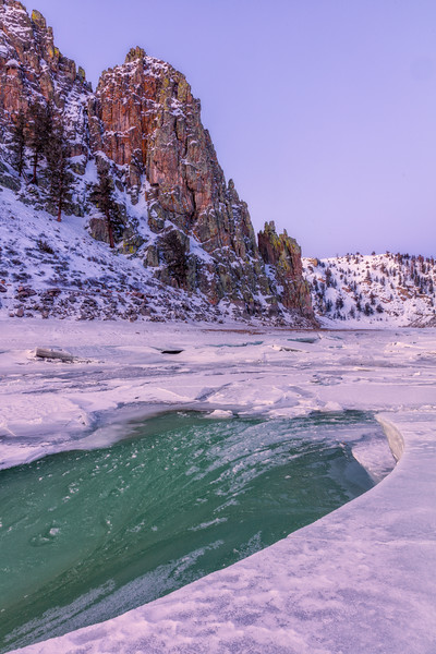 """Gunnison River Ice Breakup"" Gunnison, Colorado"