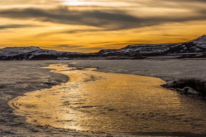 """Winter Sunset on Blue Mesa"" Gunnison, Colorado"
