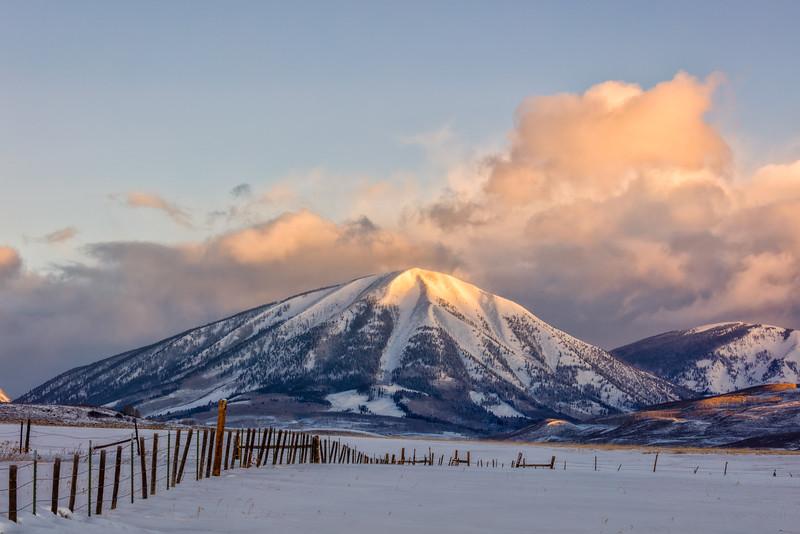 """""""Carbon Mountain from the Miller Ranch"""" Ohio Creek, Colorado"""