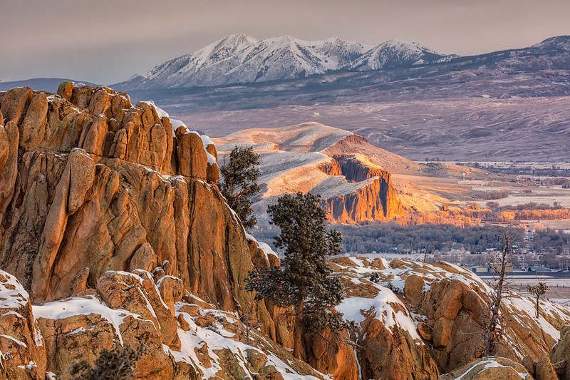 """The Palisades from Hartman Rocks"" Gunnison, Colorado"