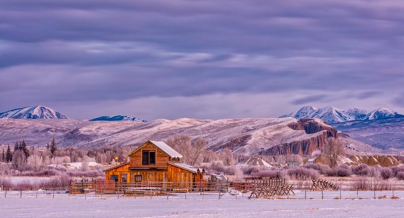 """The Palisades & Barn"" Gunnison, Colorado"