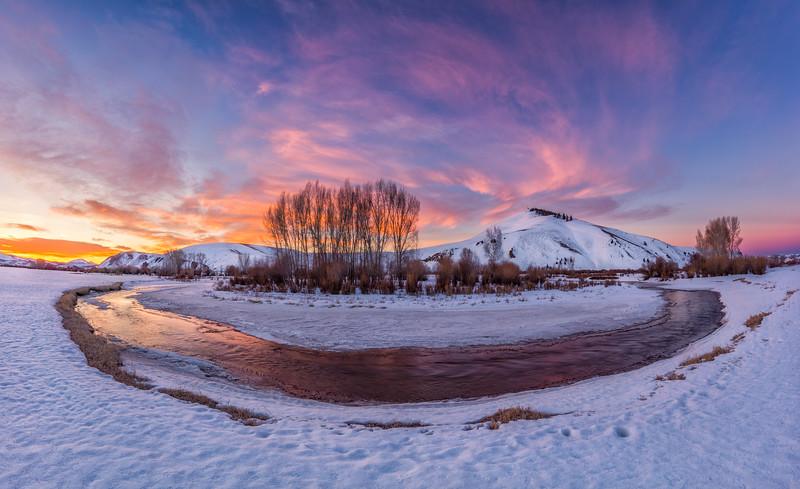 """W Mountain & Tomichi Creek"" Gunnison, Colorado"