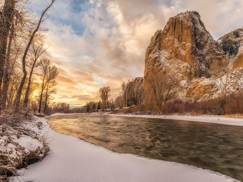 "Gunnison River Sunrise"" Gunnison, Colorado"