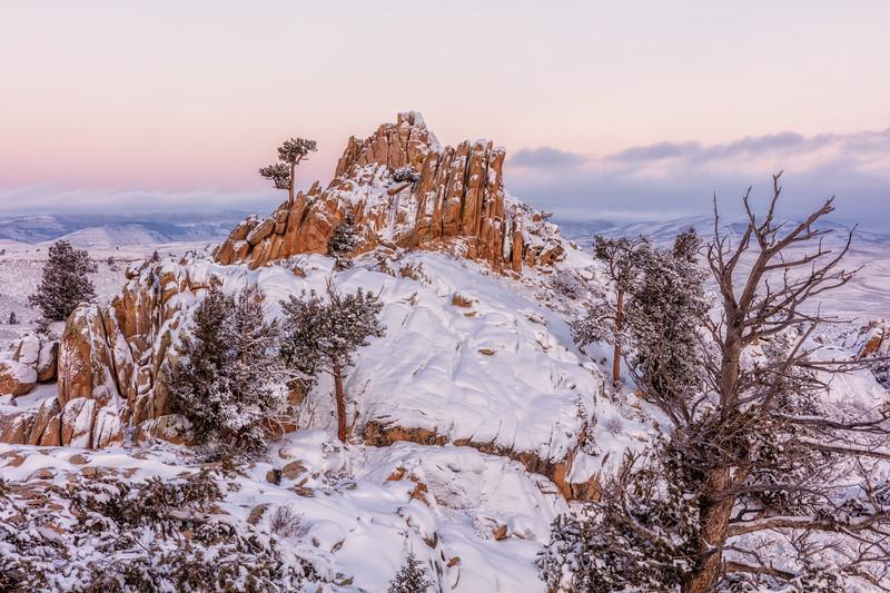 """Hartmans Snowy Sunrise"" Gunnison, Colorado"