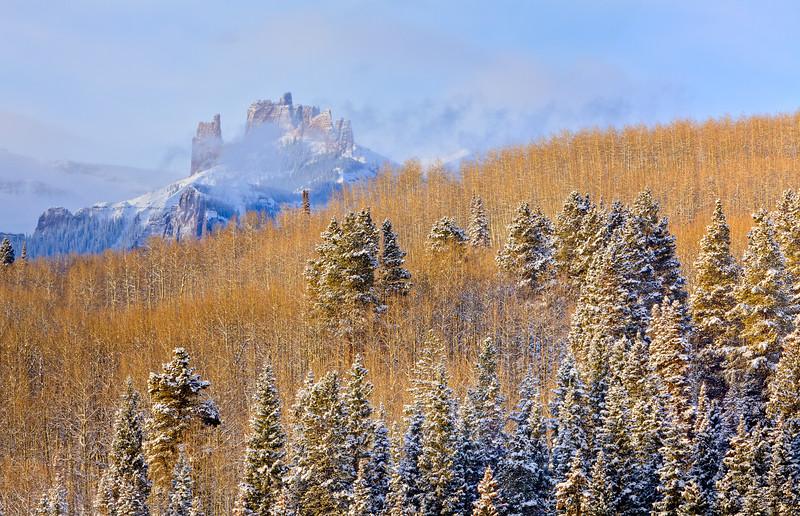 """Castles Clearing Storm"" West Elk Wilderness, Colorado"