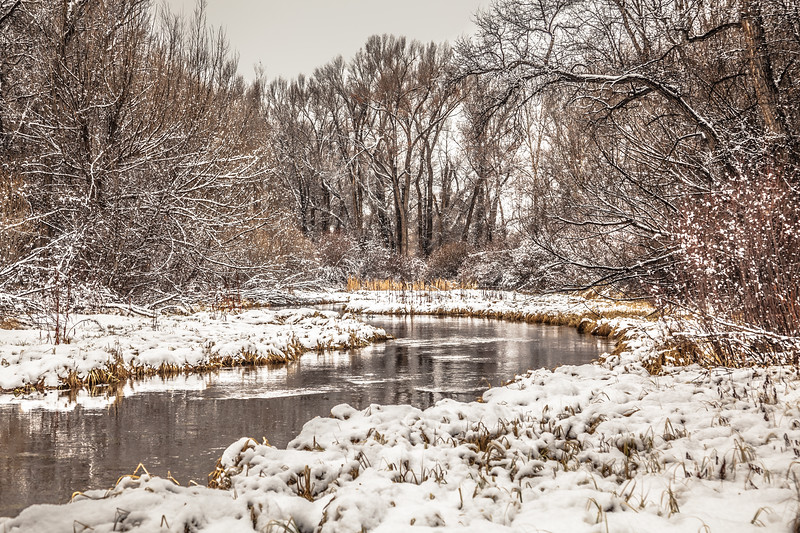 """Frozen River"" Gunnison, Colorado"