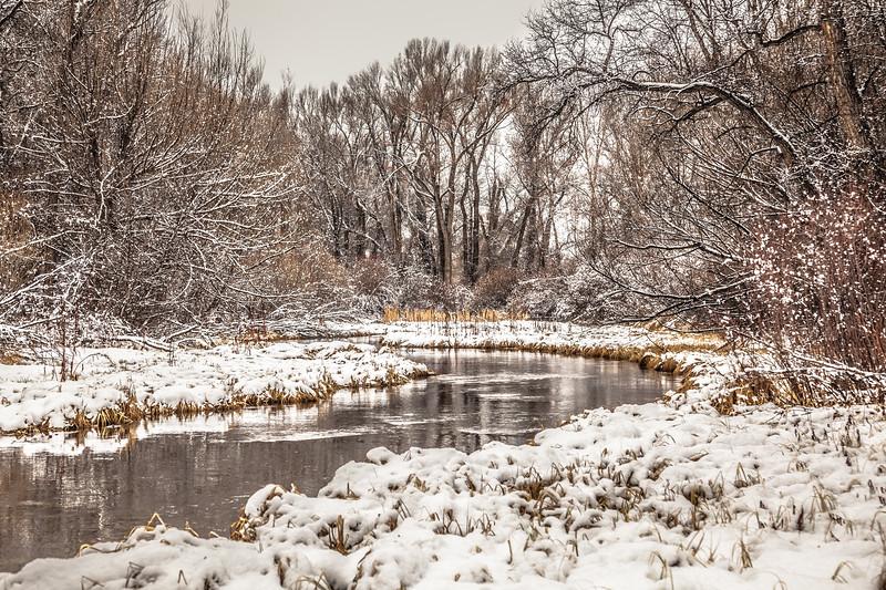 """""""Frozen River"""" Gunnison, Colorado"""