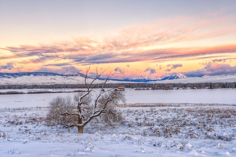 """Ohio Valley in the Snow"" Gunnison, Colorado"
