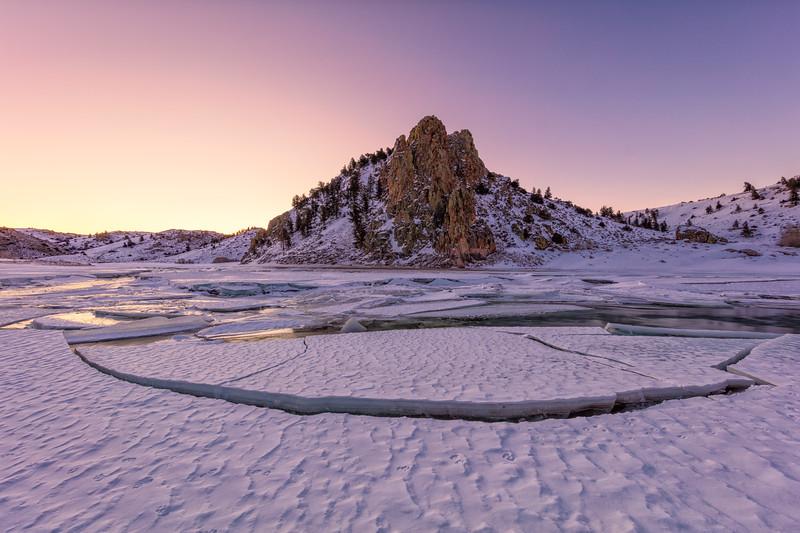 """Gunnison River Ice Breakup"" Gunnison, Colorado"