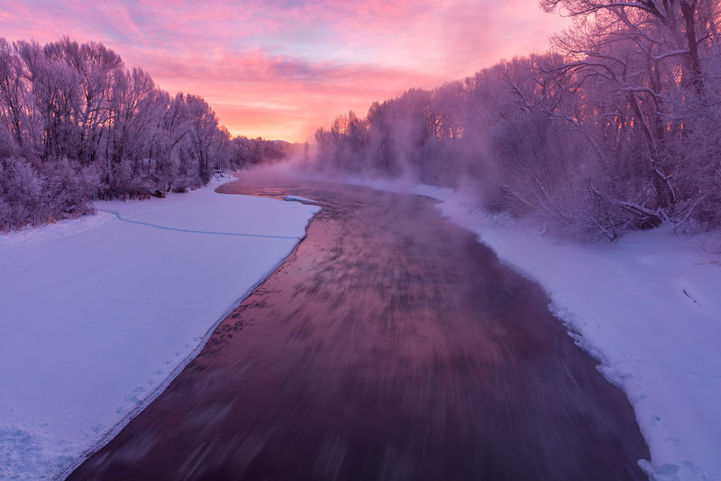 """Misty River"" Gunnison, Colorado"