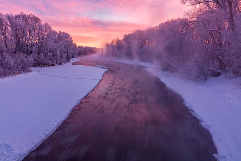"""Misty River"" Gunnison, Colorado"