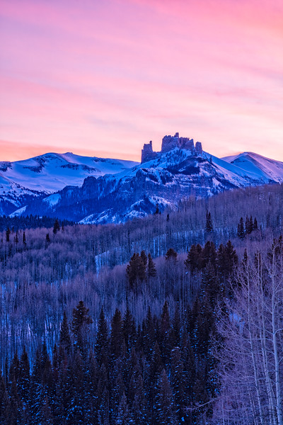 """The Castles at Sunset"" Ohio Creek, Colorado"