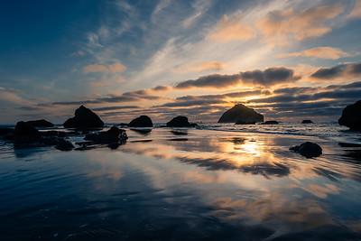 Blue hour reflections, Bandon, Oregon