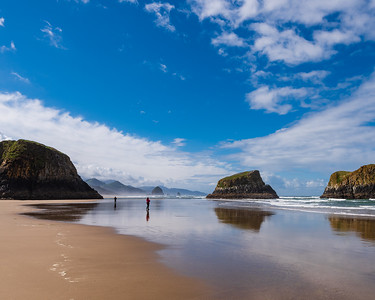 Cannon Beach, Oregon.  Last week during the low tide we were able to get out to areas which are usually under water.