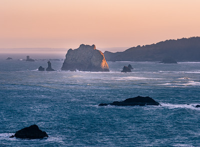 Sunrise at Cape Blanco, Oregon Coast.  Oregon has public access to the entire coast, none of the beach is privately owned.