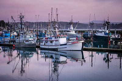 Evening at the docks, Yaquina Bay, Oregon.