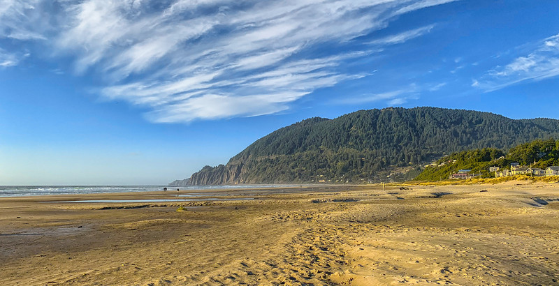 Sitting on the Beach in Manzanita, Oregon