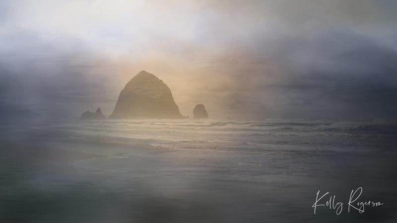 Cannon Beach, Oregon ~ Textures Arise The Horizon