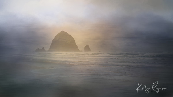 Cannon Beach, Oregon ~ Textures Arise The Horizon
