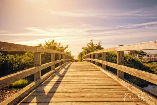 A perfect walk from a city park, over a gorgeous river to land on a stunning Oregon beach.