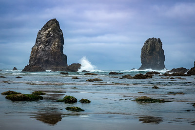 Haystack Rock at Cannon Beach, Or - -22