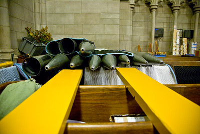 058 Duke Chapel - Aeolian Installation 4-3-08