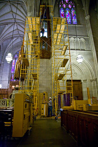 032 Duke Chapel - Aeolian Installation 4-3-08