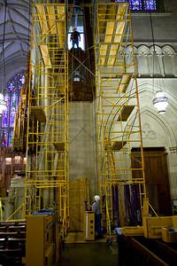 026 Duke Chapel - Aeolian Installation 4-3-08