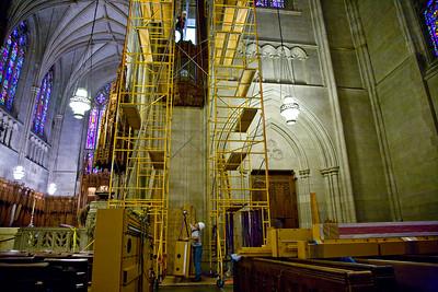 034 Duke Chapel - Aeolian Installation 4-3-08
