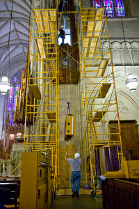 040 Duke Chapel - Aeolian Installation 4-3-08