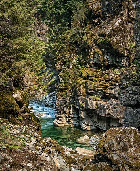 The Coquihalla River and rock cliffs near Hope, BC.