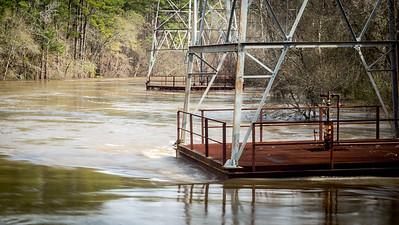Oil Derricks on the Flooded River