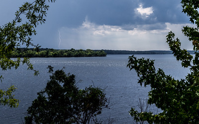 Summer Shower at the Lake
