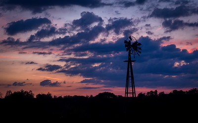 Sunset at Trimble Dairy