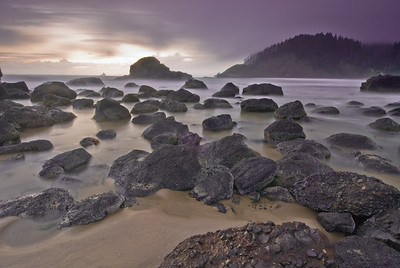 Indian Beach at Ecola State Park near Cannon Beach, Oregon.